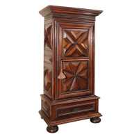French Baroque Carved Walnut Bonnetiere
